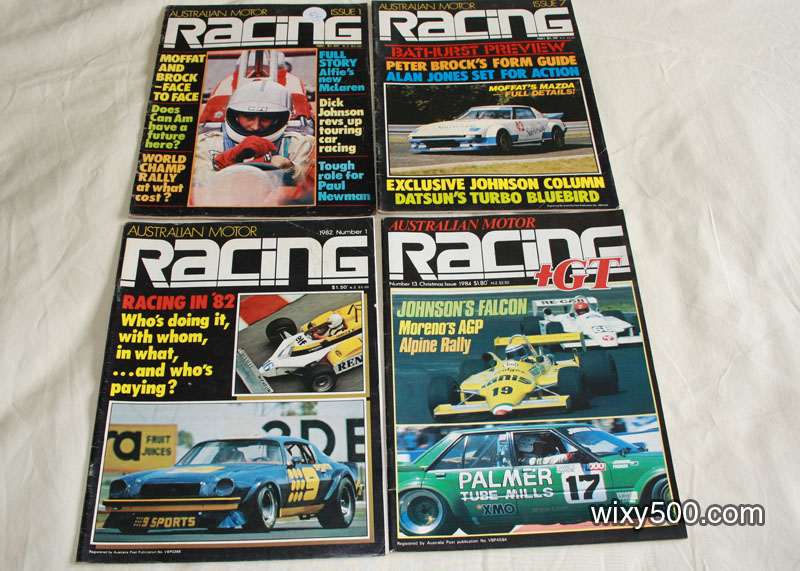 Australian Motor Racing Issue #1, #7, 1982 No 1, 1984 No 13