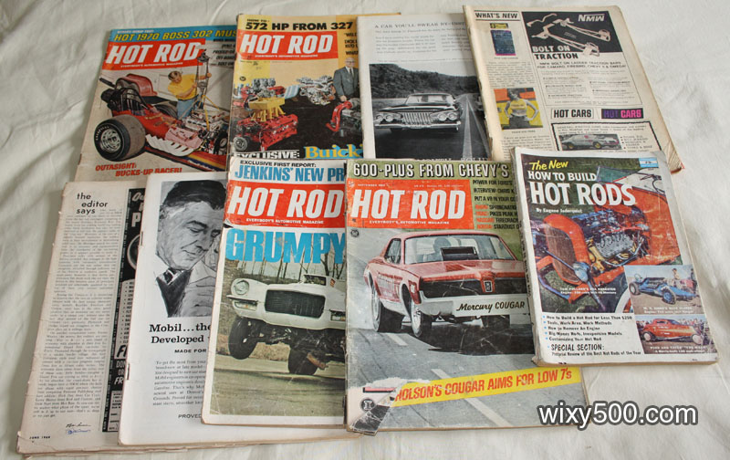 Various Hot Rod / Hot Rodding magazines from the 1960s and 70s. Some are complete, but many are damaged