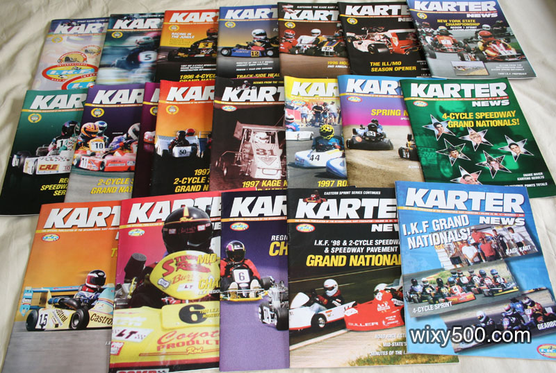 Karter magazine (official IKF / USA publication) most issues from 1997 and 1998. Excellent condition.