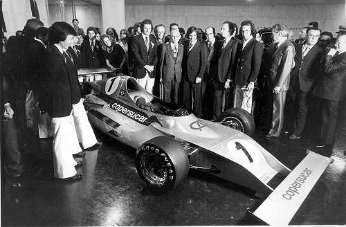 Press presentation of Fittipaldi's new FD01 in Brazil