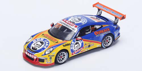 Colourful Bob Jane liveried Australian Porshe Carerra Cup winner 2015, Nick Foster