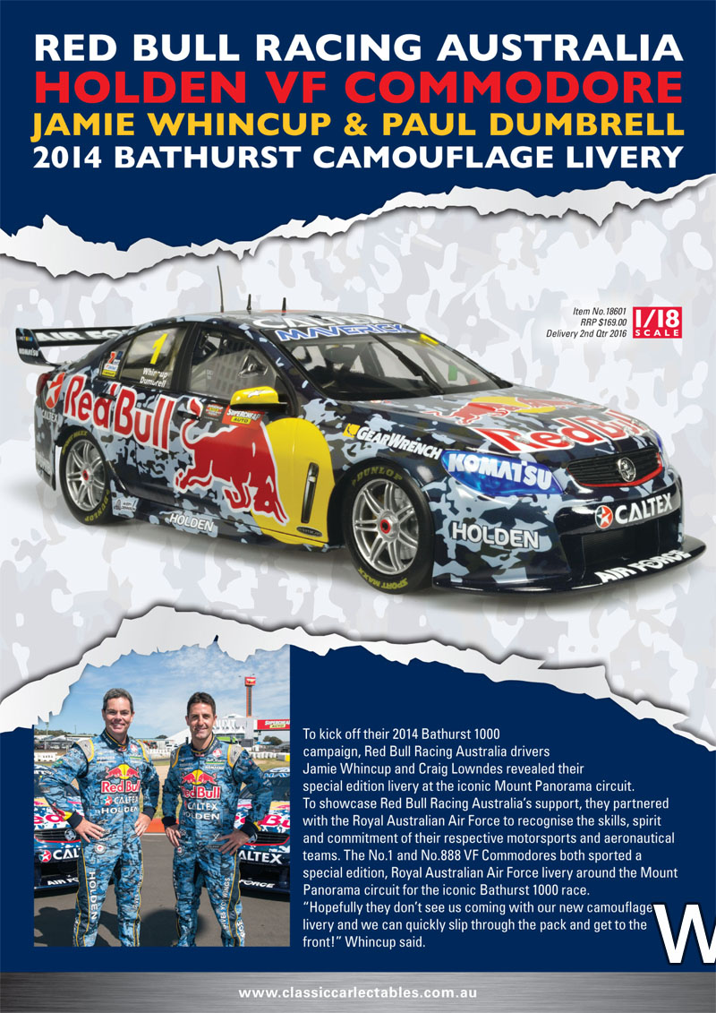 holden vf commodore jamie whincup paul dumbrell bathurst 2014 camouflage livery