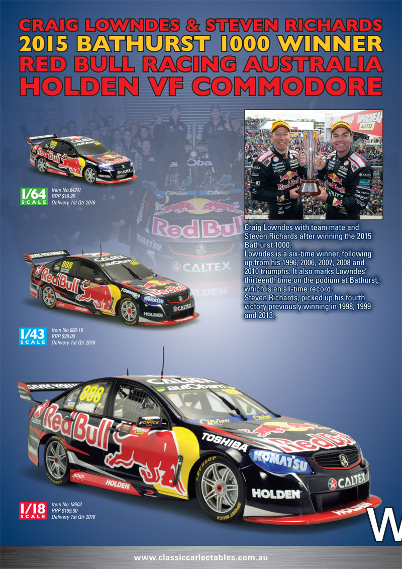 2015 bathurst winner steve richards/craig lowndes VF Commodore Red Bull