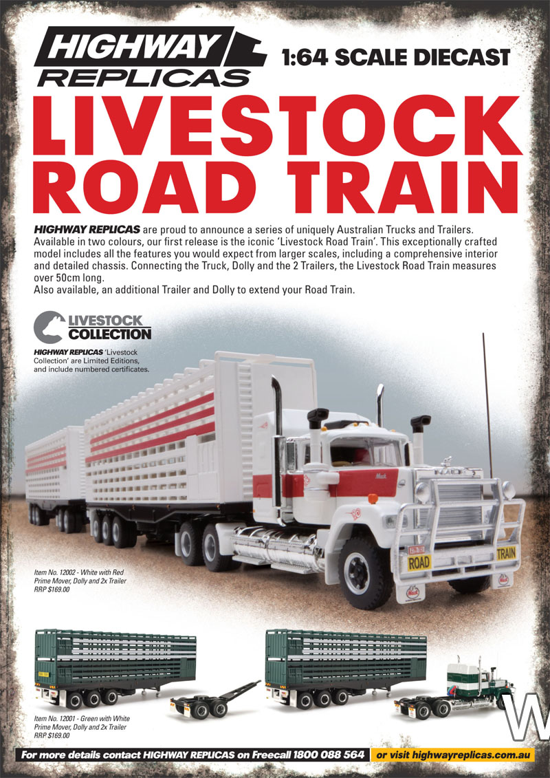 Highway Replicas livestock road train