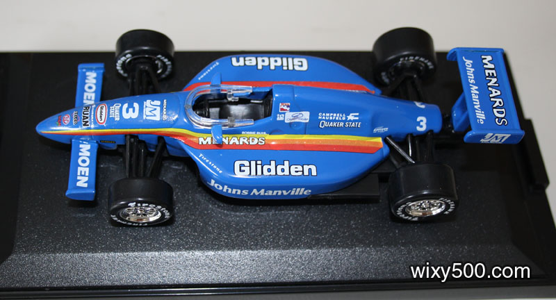 Ertl's G-Force resembles Robbie Buhl's ride in the 1998 IRL Indycar series