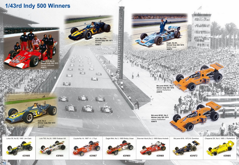 Indianapolis 500 winners collection. Spark is also doing a range of non-winners