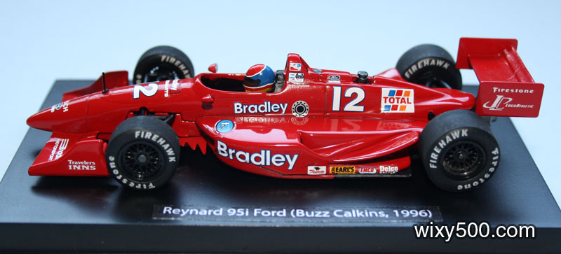 How the model now displays. I far prefer this look compared to the gaudy red/blue insert card provided by Minichamps