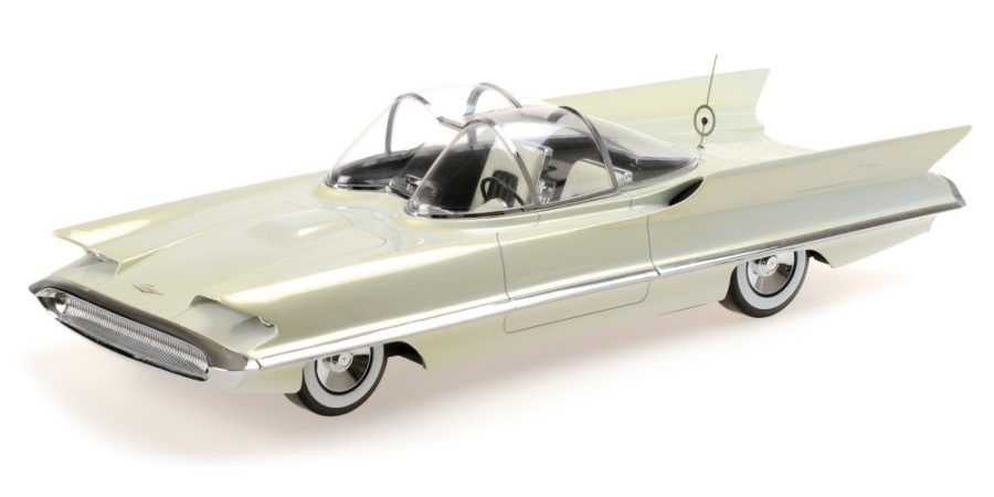 1955 Lincoln Futura by Minichamps in the original pearlescent white colour