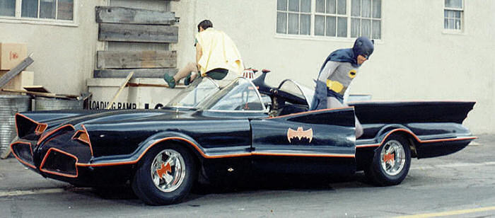 """Holy diecast Batman!"" 1966 Batmobile started life as the Licoln Futura concept car"