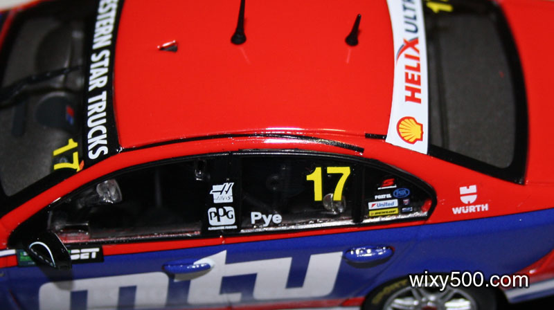 Poor decal application on the DJR-Penske of Scott Pye. Hopefully this can be moistened and 're-floated' into the correct position