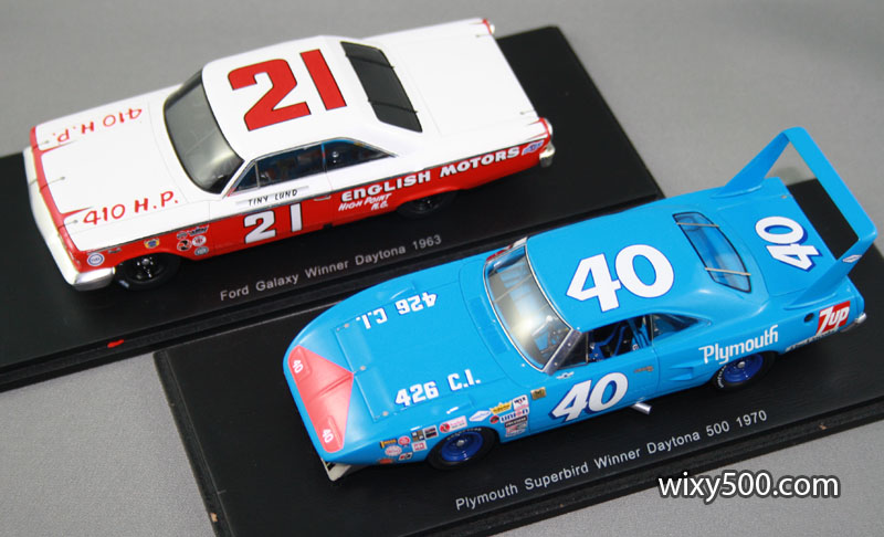 The 1963 and 1970 Daytona 500 winniners in 1:43 scale, by Spark