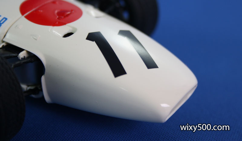 Each race number was one big decal meaning there was a lot of clear decal film between the two digits. I cut each digit out and applied separately.