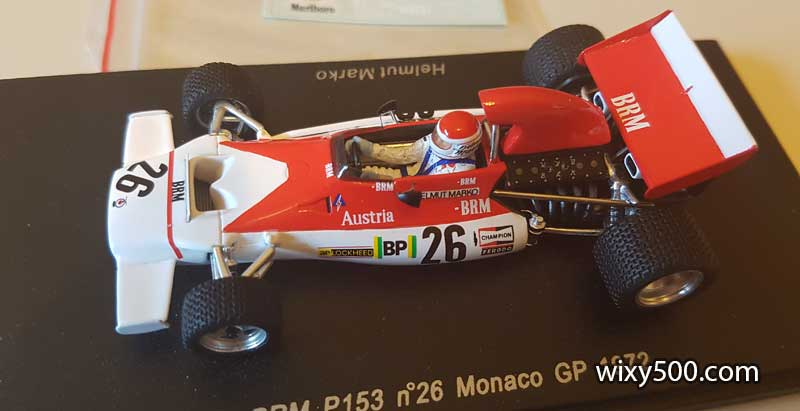 Spark S1154 - BRM P153 of Helmut Marko (yeah, the Red Bull guy), 1972 Monaco GP