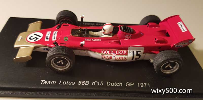 """With the """"Team Lotus Gold Leaf"""" decals applied"""