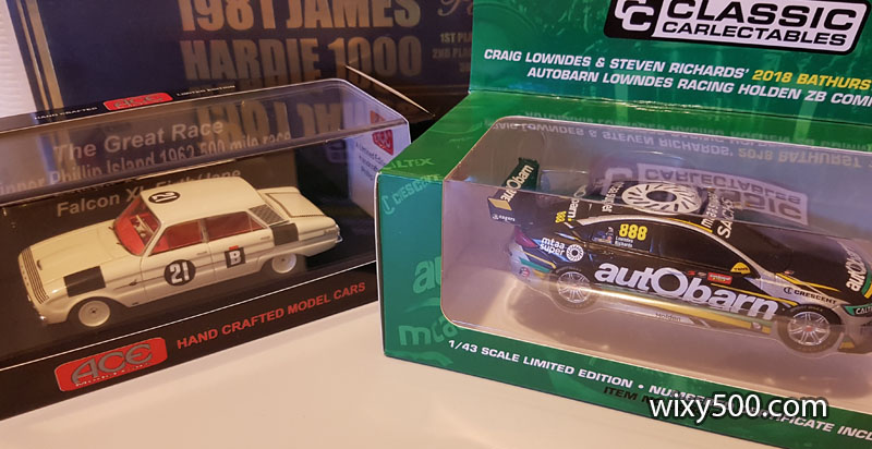 Great Race winners in 1:43 scale - Ford XL Falcon by ACE and Holden ZB Commodore by Classic Carlectables