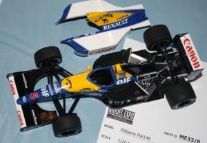 Hasegawa Williams FW14 Renault of Nigel Mansell